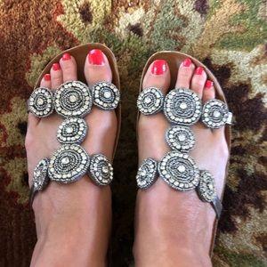 7.5 Italian Sandals silver A. Giannetti